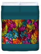 Daisy Petals Abstracts Duvet Cover