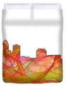 Des Moines Iowa Skyline Duvet Cover