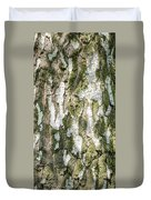 Detail Of Brich Bark Texture Duvet Cover