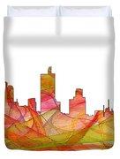 Fort Worth Texas Skyline Duvet Cover
