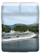 ketchikan alaska downtown of a northern USA town Duvet Cover