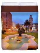 Montevideo, Uruguay Duvet Cover