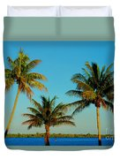 13- Palms In Paradise Duvet Cover