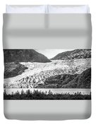 Panoramic View Of Mendenhall Glacier Juneau Alaska Duvet Cover