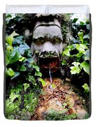 Public Fountain In Palma Majorca Spain Duvet Cover