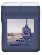 Racine Harbor Wisconsin  Duvet Cover