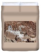 Ruins At Basgo Monastery Duvet Cover