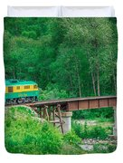 Scenic Train From Skagway To White Pass Alaska Duvet Cover