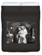 Silent Still: Man & Woman Duvet Cover