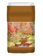 Stream In Autumn, Pocono Mountains, Pennsylvania Duvet Cover