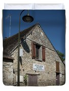 Street Scenes From Giverny France Duvet Cover