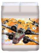 Trilogy Star Wars Poster Duvet Cover