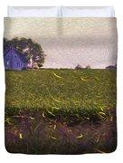 1300 - Fireflies Impression Version Duvet Cover