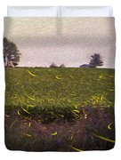 1300 - Fireflies Impression Version Duvet Cover