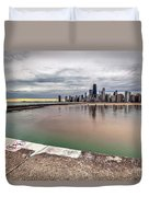 1323 A View From The Breakwall Duvet Cover