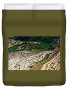 Longji Terraced Fields Scenery Duvet Cover