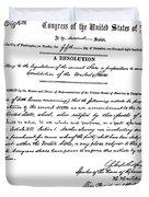 13th Amendment, 1865 Duvet Cover