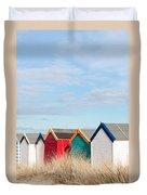 Beach Huts Duvet Cover