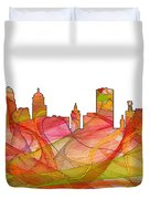 Buffalo New York Skyline Duvet Cover