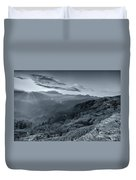 Chilly Winter Sunrise At Lunhgthang Sikkim West Bengal India Duvet Cover