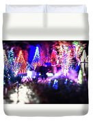 Christmas Light Bokeh At Daniel Stowe Gardens Belmont North Caro Duvet Cover