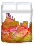 Dallas Texas Skyline Duvet Cover