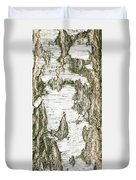 Detail Of Brich Bark Texture Duvet Cover