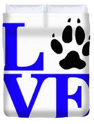 Love Claw Paw Sign Duvet Cover