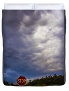 May Nebraska Storm Cells Duvet Cover