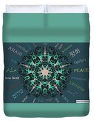 Peace All Over The World Duvet Cover