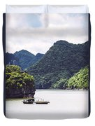 Picturesque Sea Landscape. Ha Long Bay, Vietnam Duvet Cover