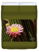Pink Cactus Flower Duvet Cover