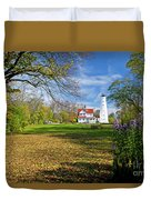1406 North Point Lighthouse Duvet Cover