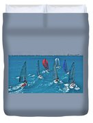Miami Regatta Duvet Cover
