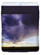 Afternoon Nebraska Thunderstorm Duvet Cover