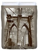 Brooklyn Bridge - New York City Duvet Cover