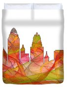 Cincinnati Ohio Skyline  Duvet Cover