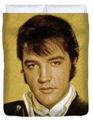 Elvis Presley, Rock And Roll Legend Duvet Cover