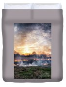 Fires Sunset Landscape Duvet Cover