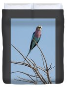 Lilac Breasted Roller 2 Duvet Cover