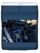 Motorcycles On Main Duvet Cover