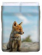 Red Fox Cub Duvet Cover