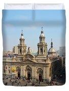 Santiago De Chile Duvet Cover