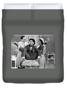 Silent Film Still: Doctor Duvet Cover