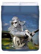 Silver Elvis Duvet Cover