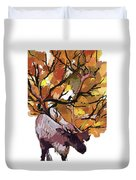 150 Caribou Speed Paint Duvet Cover