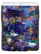 16-1 Blue Space Duvet Cover