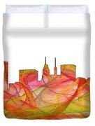 Baltimore Maryland Skyline Duvet Cover