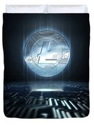 Cryptocurrency And Circuit Board Duvet Cover