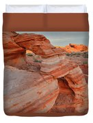 First Light On Valley Of Fire Duvet Cover